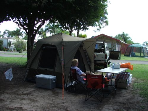 Camping in a commercial campground