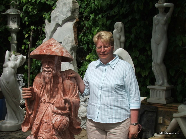 The author, with friend, Hue, Vietnam