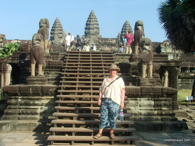 The Author Makes a Fashion Statement, Angkor Wat, Cambodia