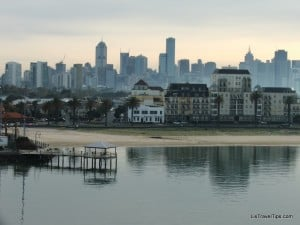 Melbourne CBD and St Kilda from the Tasmanian Ferry