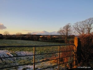 northern ireland, snowy landscape