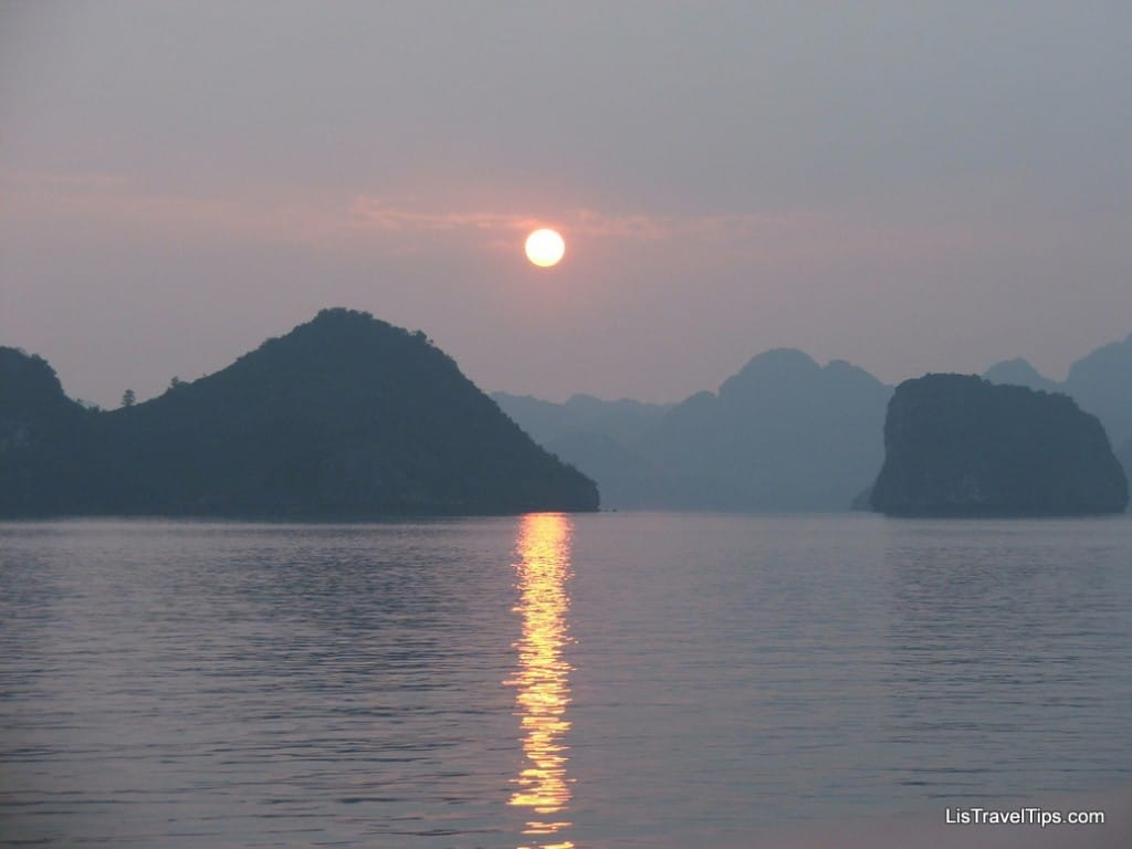 Moon over Hailong Bay Vietnam