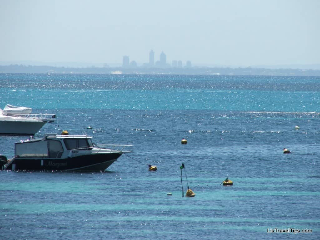 Perth skyline from Rottnest Island, WA, Australia