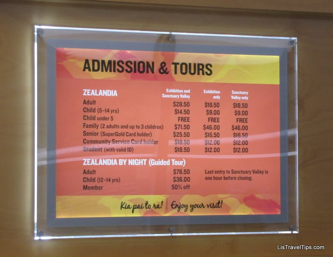 Zealandia entry prices too high