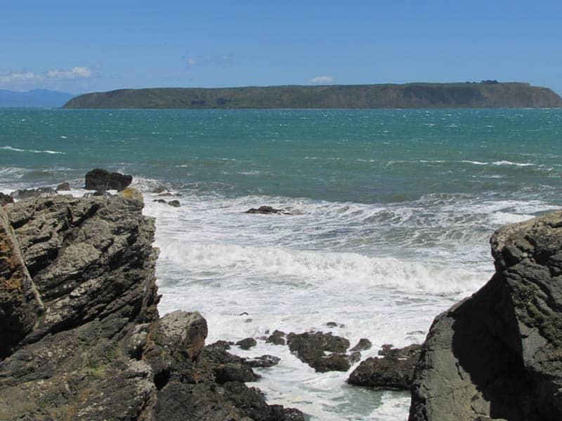 Mana Island from Rocky Bay, Titahi Bay