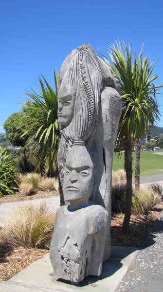 Carvings Near Pataka, Porirua