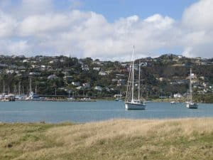 Looking towards Mana from Whiteria Park, Porirua