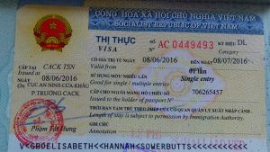 Vietnamese visa - issued at SGN Airport