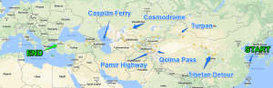 Silk Road Planned Travel Route
